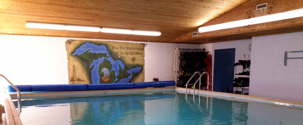 Do your class and pool training in one spot